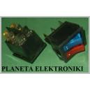 Przełącznik podśw Podwójny NIEB/CZER 250V (0364a)