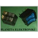 Przełącznik podśw Podwójny NIEBIESKI 15A 250V(0364