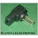 Wtyk głośnikowy na kabel czarny DIN2 kątowy (3043)