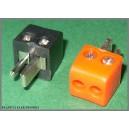 Wtyk głośnikowy czerwone/czarne DIN2 MINI kpl 10szt (1001)