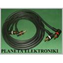 Kabel 2x wtyk RCA (cinch)- 2RCA KĄT 1,8m OFC (3046