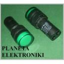 KONTROLKA LED 19mm ZIELONA 12V paragon fv(3262)