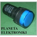 KONTROLKA LED 28mm NIEBIESKA 12V paragon fv(3263)