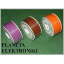 Przewód kabel KYNAR 0,24mm (2m) pomarańczowy (3266