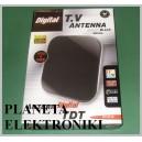 Czarna Antena DVB-T pokojowa wewnętrzna TV (3244)