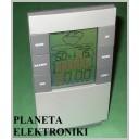 STACJA POGODY wilgotność budzik zegar data FV(2388)