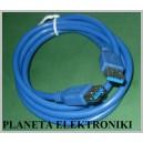 Przedłużacz USB 3.0 wtyk A / gniazdo A 1,8m (2683a)
