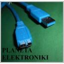 Kabel USB 3.0 wtyk USB / micro B 5+4pin 1,8m (3293)
