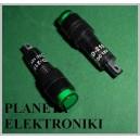KONTROLKA 8mm ZIELONA 12V nowa paragon FV (3327)