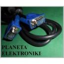 Kabel do monitora SVGA 15p wtyk -wtyk 1,8m (0901a)