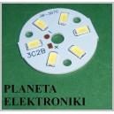 MODUŁ 6 diod LED 3W 0-11V okrągły biały zimny (3316)