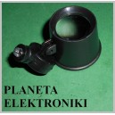LUPA do oka z LED 21mm zegarmistrzowska 10x (3314)