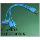 Kabel wtyk USB na Micro ( mikro ) USB / ipad /iphone 5 (3354)