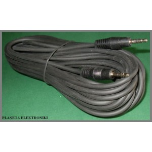 Kabel 2x wtyk Mały Jack 3,5 stereo 0,5m (0437a)