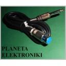 Kabel mikrofonowy wtyk JACK 6,3 mono / gniazdo XLR 3m(2124a)