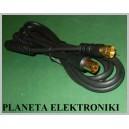 Kabel wtyk TV antenowy - wtyk F 1,5m GOLD (0699)
