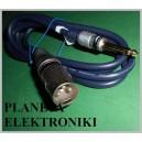 Kabel wtyk XLR canon / wtyk JACK 6,3 mono 3m HQ(3471)