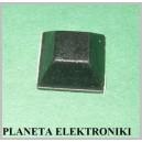 NÓŻKA samoprzylepna gumowa kwadrat 6mm / 12mm