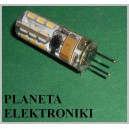 ŻARÓWKA halogen 24 LED G4 SMD 2W 12V biała ciepła FV(3478)