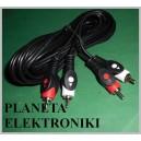 Kabel RCA ( cinch ) - 2 wtyki / 2wt Łezka 3m(1497a