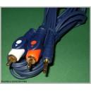 Kabel PC-Wieża jack 3,5 - 2x RCA 1,5m HQ (1436a)