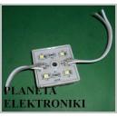 MODUŁ LED 4 LED IP67 36x36 1W 12V biała zimna(3514)