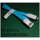 Kabel do ładowania wtyk USB na iphone 5 1m (3515)