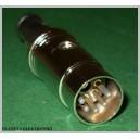 Wtyk DIN 5pin 5p na kabel METAL (0620)
