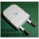 Wtyk sieciowy płaski AC na kabel wtyczka (2993a)