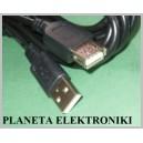 Kabel przedłużacz drukarki USB wtA/gnA 0,6m (0321)