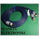 Kabel wtyk jack 3,5 - 2x gniazdo RCA 3m HQ (3579)