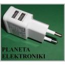 Adapter ŁADOWARKA SIECIOWA Zasilacz 2 USB 2A(3376a)
