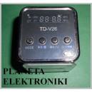 RADIO FM MP3 MICRO SD USB GŁOŚNIK MINI (2591b)