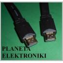 Kabel HDMI -HDMI 1.4a 3m płaski (3620)