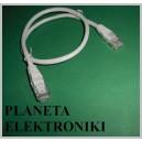 Kabel sieciowy LAN skrętka wtyki RJ45 0,5m (3614)
