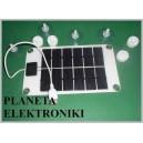 Ogniwo PANEL słoneczny 2W 6V 120x210x2mm z USB (3647)