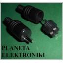 Wtyk głośnikowy na kabel czarny DIN2 (0575a)