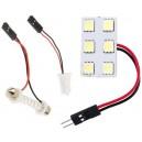MODUŁ żarówka 6 diod LED 12V W5W C5W C10W