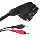 Kabel wtyk EURO SCART / 2x RCA cinch AV 2,5m (2069
