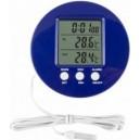 Elektroniczny termometr zew/wew niebieski (2363)