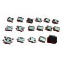 ZESTAW 17szt gniazdo micro USB mikro (3743)