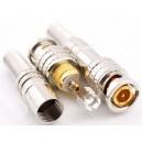Złącze męskie wtyk BNC montaż na kabel GOLD (4161)