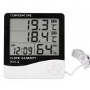 TERMOMETR LCD Stacja Pogody zegar wilgotność(4141)