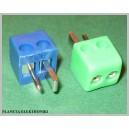 Wtyk głośnikowy DIN2 5niebieskich+5zielonych