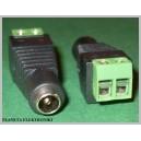 Złącze gniazdo DC 2,1 / 5,5 + szybkozłącze FV(1224