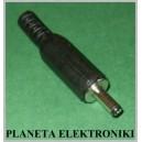 Złącze wtyk DC 1 / 3,4 na kabel plastik