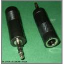 Przejście adapter gn jack 6,3 / wt 3,5 stereo