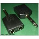 Rozdzielacz wtyk jack 6,3 / 2gn 6,3 stereo