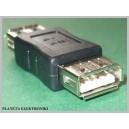 Złącze łącznik gniazdo żeńske podwójne USB