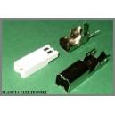 Wtyk USB typ B montowany na kabel